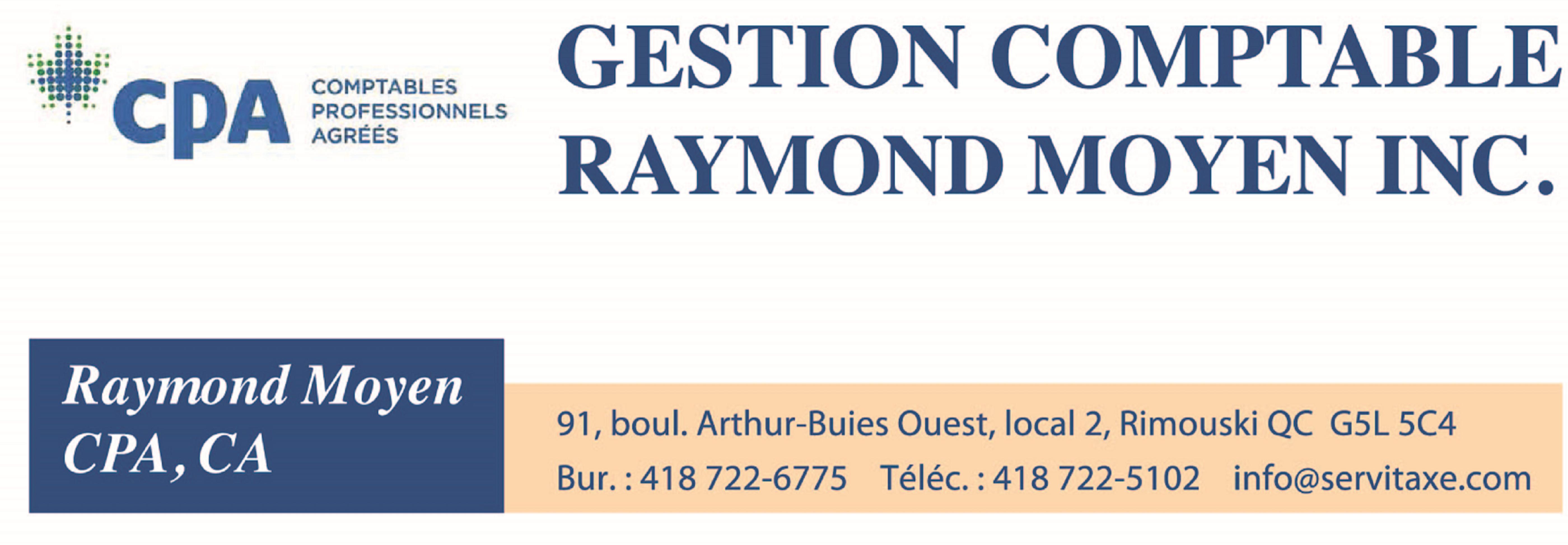 Gestion comptable Raymond Moyen inc.